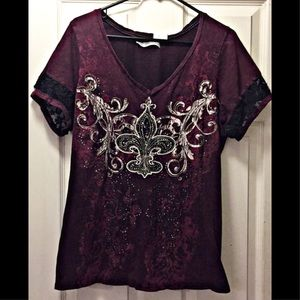 MAURICES bedazzled tee